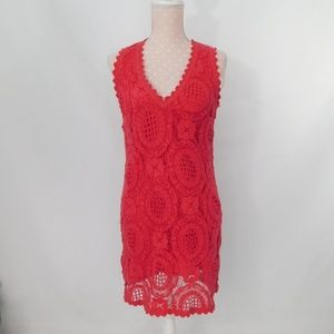 French Connection Lark Crochet Lace Dress US6/UK10